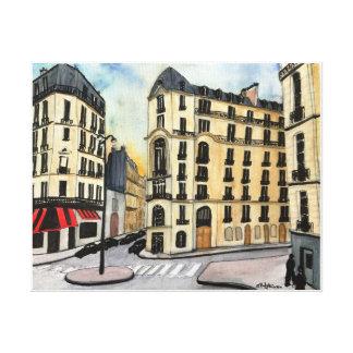 Paris - watercolor, wrapped canvas print