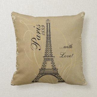 Paris with Love Throw Pillow