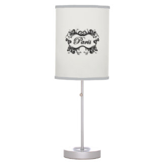Paris with Swirling Scrolls Table Lamp