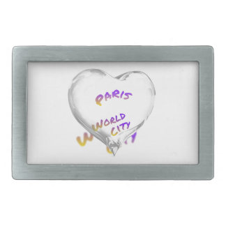 Paris world city, Water Heart Belt Buckle