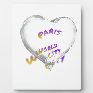 Paris world city, Water Heart Plaque
