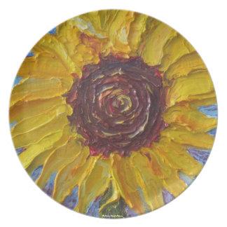 Paris' Yellow Sunflower Plate