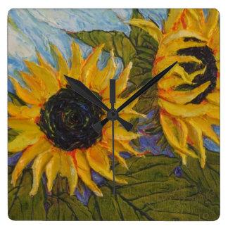 Paris' Yellow Sunflowers Wall Clock