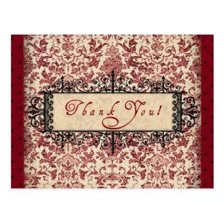 Parisenne Thank You Postcard