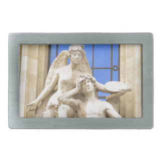 Parisian architecture rectangular belt buckle