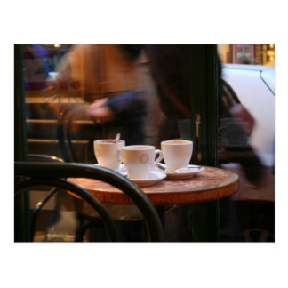 Parisian Atmosphere Coffee Guest or Ghost Postcard