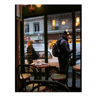 Parisian Atmosphere Rue Rambuteau near Beaubourg Postcard