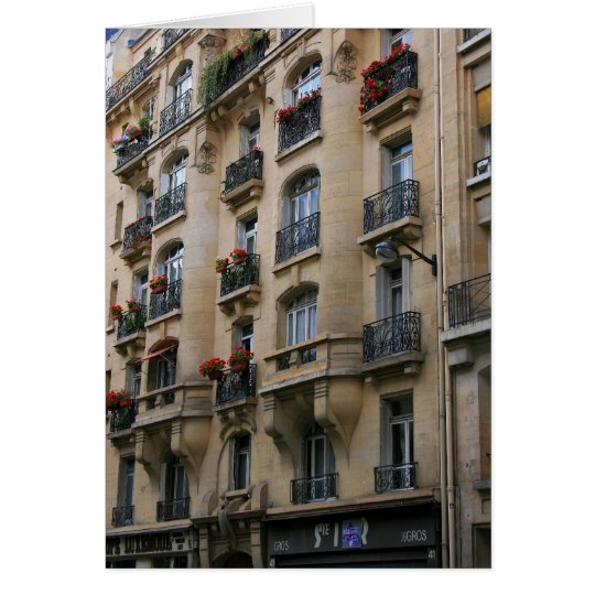 Parisian Balconies Card