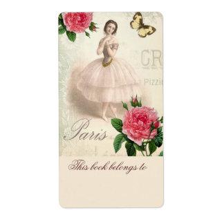 Parisian Ballerina Bookplate