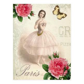 Parisian Ballerina Postcard