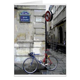 Parisian Bicycle Card