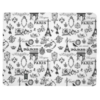 Parisian, Black and White Pocket Journal