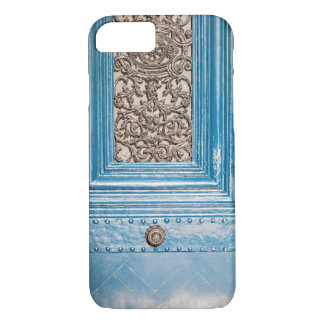 Parisian Blue Door Photo iPhone Case
