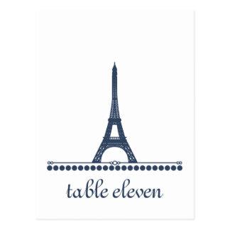 Parisian Chic Table Postcard, Blue