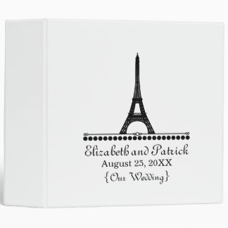 Parisian Chic Wedding Binder, Black