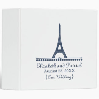Parisian Chic Wedding Binder, Blue