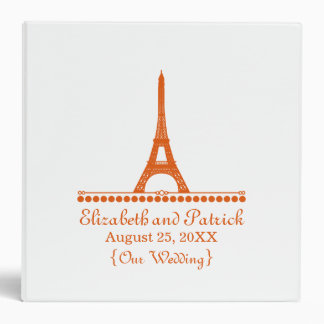 Parisian Chic Wedding Binder, Orange