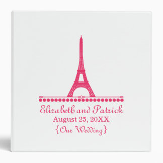 Parisian Chic Wedding Binder, Pink