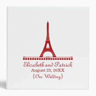Parisian Chic Wedding Binder, Red