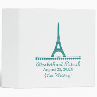 Parisian Chic Wedding Binder, Teal