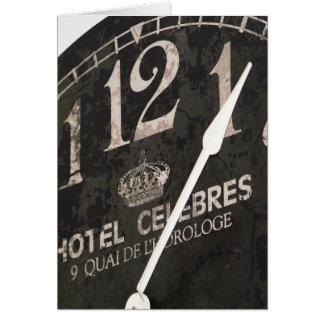 Parisian Clock card