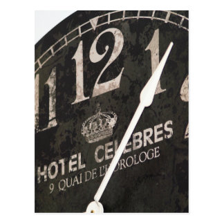 Parisian Clock postcard