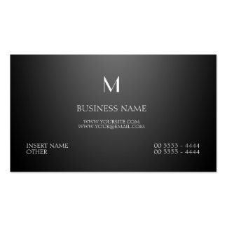 Parisian Elegant and Monogram Black Business Card