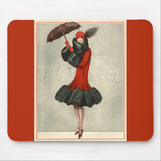 Parisian Fashion Illustration Mousepads