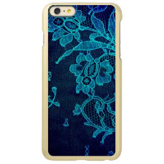 Parisian Feminine Victorian Gothic Navy Blue Lace
