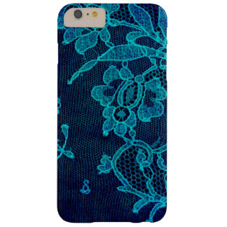 Parisian Feminine Victorian Gothic Navy Blue Lace Barely There iPhone 6 Plus Case