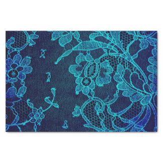 Parisian Feminine Victorian Gothic Navy Blue Lace Tissue Paper