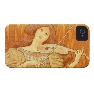 Parisian French Art Nouveau Violinist Music Lesson Case-Mate iPhone 4 Case