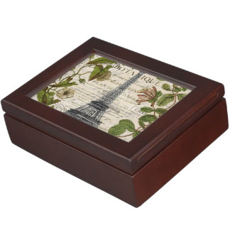 parisian french botanical art paris eiffel tower keepsake box