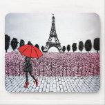 parisian Girl Mouse Pad