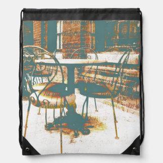 parisian grunge vintage street cafe backpack