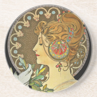 Parisian Lady and Feather 1899 Coaster