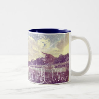 Parisian Love Weathered Image Two-Tone Coffee Mug
