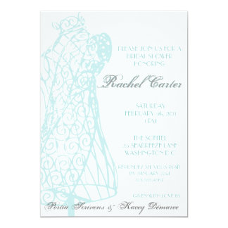 Parisian Mannequin Bridal Shower Invitation