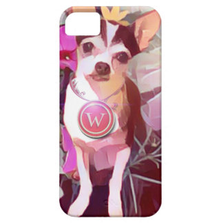 "Parisian Pale Pink Pooch ""W"" iPhone 5 Covers"