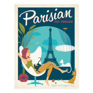 Parisian Pet Parlor Postcard