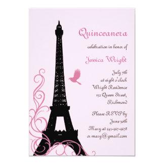 Parisian Quinceanera Invitation (pink)