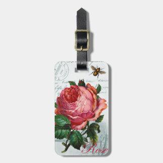 Parisian Rose Luggage Tag