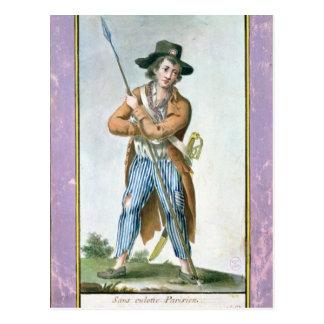 Parisian Sans-culotte Postcard