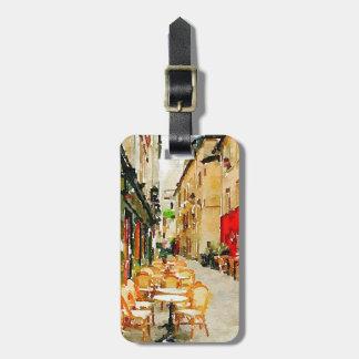 Parisian Street Cafe Luggage Tag