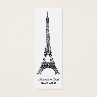 Parisian Theme Eiffel Tower Travel Agent Skinny Mini Business Card