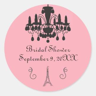 Parisian Themed Bridal Shower - Circle Sticker