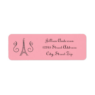 Parisian Themed Pink - Return Address Label