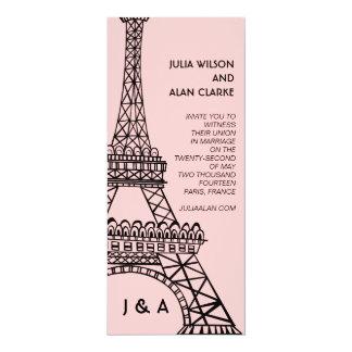 Parisian Wedding Invitation Eiffel Tower Pink