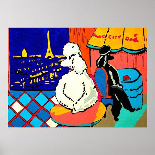 Parisien poodles poster