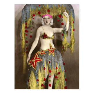 Parisienne Casino Dancer 3 Postcard